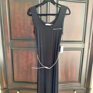 Calvin Klein black maxi dress size 6